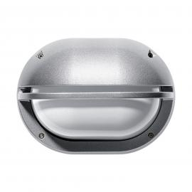 Außenwandleuchte Eko mit Blende grau