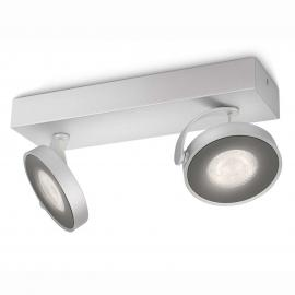 Philips Clockwork LED-Deckenstrahler grau 2-flg.