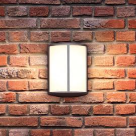 Stimmungsvolle LED-Außenwandleuchte Stock