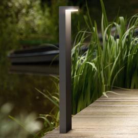 L-förmige LED-Wegeleuchte Bustan aus Aluminium