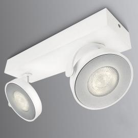 Philips Clockwork LED-Strahler weiß 2flg. WarmGlow