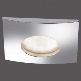Eckiger LED-Einbaustrahler Lumeco, chrom