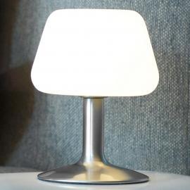Kleine LED-Tischleuchte Till m. Touchdimmer, stahl