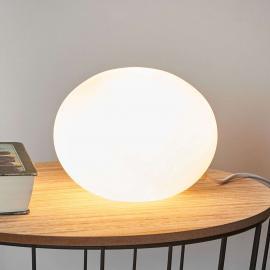 Dekorative Tischleuchte Glas Oval Ø 18 cm
