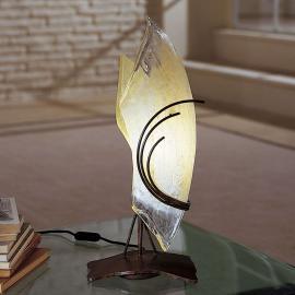 Designer-Tischleuchte ROMA 48 Glas rechts gebogen