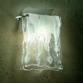 Aluminium/Glas Wandleuchte MURANO