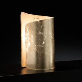 Stimmungsvolle Tischleuchte Papiro gold