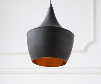 DELIFE Pendelleuchte Calathia 17 cm Schwarz Matt Aluminium, Hängeleuchten
