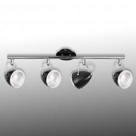 Schwarzer LED-Deckenstrahler Oliver 4-flg.