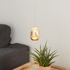Einflammige LED-Hängeleuchte Rocio, Gold-Finish