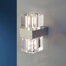 Cubic - eine kleine Wandleuchte mit Klarglas