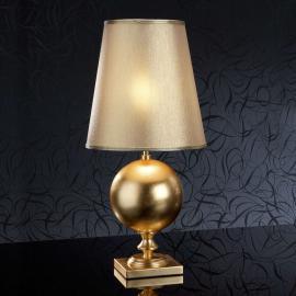 60 cm hohe, goldene Tischleuchte Terra