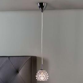 Hestia II - zierliche LED-Hängeleuchte aus Glas