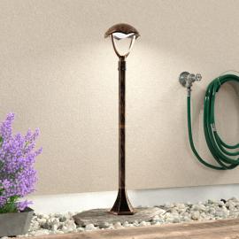 Stilvolle LED-Wegeleuchte Gracht rostfarben antik