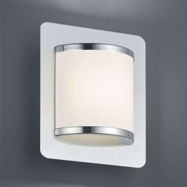 LED-Wandleuchte Agento nickel matt