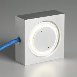 Tecnolumen Square LED-Tischleuchte blaue Zuleitung