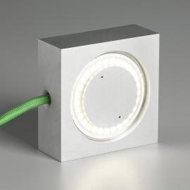 Tecnolumen Square LED-Tischleuchte grüne Zuleitung