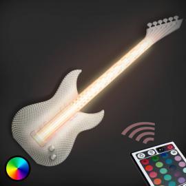 Gitarre - weiße LED-Wandleuchte, 3D-Druck