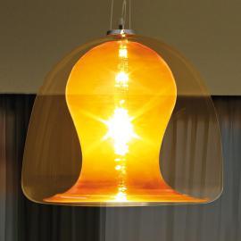 Strahlende Hängeleuchte NARANZA, 57 cm orange