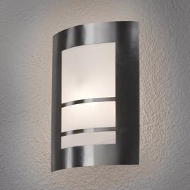 Schöne LED-Außenwandleuchte Katalea in Silber