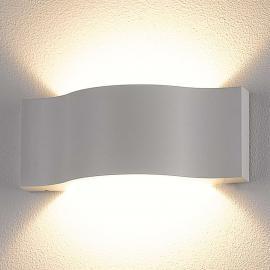 Effektvolle LED-Außenwandleuchte Jace, weiß