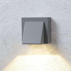 Silbergraue LED-Außenwandleuchte Marik