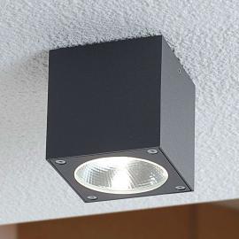Würfelförmige LED Außendeckenleuchte Cordy
