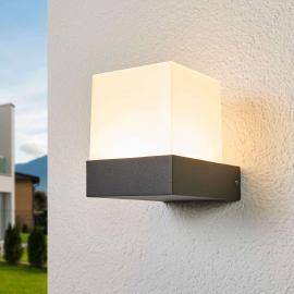 Pelina - LED-Außenwandleuchte in Würfelform