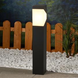 Kantige LED Sockelleuchte Kiran aus Aluminium
