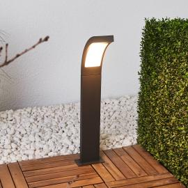 Grafitgraue LED-Pollerleuchte Juvia aus Aluminium