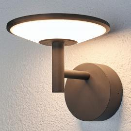 Anthrazitfarbene LED-Außenwandleuchte Fenia