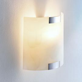 Quadratische Glas-Wandleuchte Quentin, E14-LED