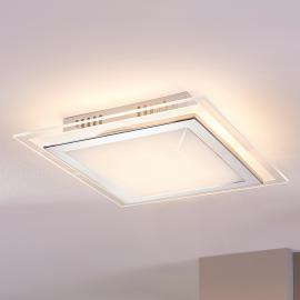 Quadratische Glas-Deckenleuchte Alessio mit LED