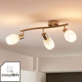 Dreiflammiger LED-Deckenstrahler Arda, dimmbar