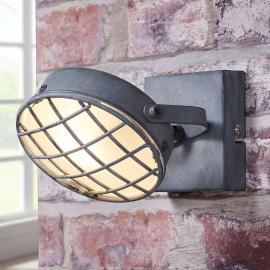 Rauchgrauer LED-Strahler Tamin, industrieller Stil