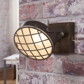 Rostfarbene LED-Wandleuchte Tamin, Industriestil
