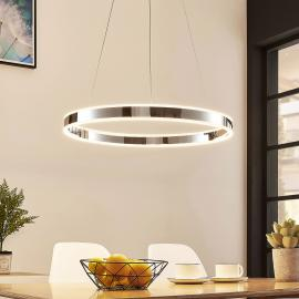 LED-Pendelleuchte Lyani in Chrom, dimmbar, 60 cm
