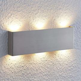 LED-Wandleuchte Manon, nickel satiniert, 35 cm