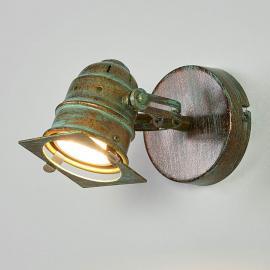 Strahler Janek mit LED-Lampe und Grünspanoptik