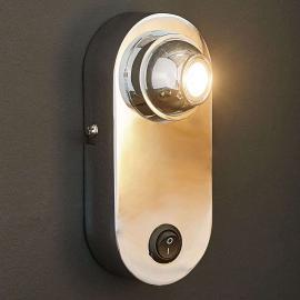 LED-Wandleuchte Eren mit Linse und Schalter