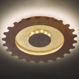 LED-Deckenleuchte Leif in Zahnradoptik, Ø 50 cm