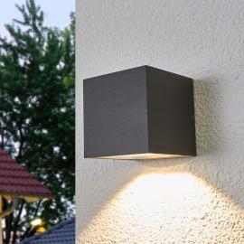 Merjem - LED-Außenwandleuchte in Dunkelgrau
