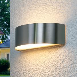 Edelstahl-Außenwandleuchte Nadia mit LEDs