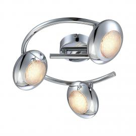 home24 LED-Deckenleuchte Gilles Metall Silber