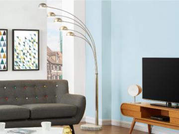 Stehleuchte Chrom Stella - Silber - Höhe: 210 cm