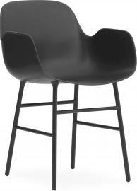Fotel Form stalowe nogi czarny