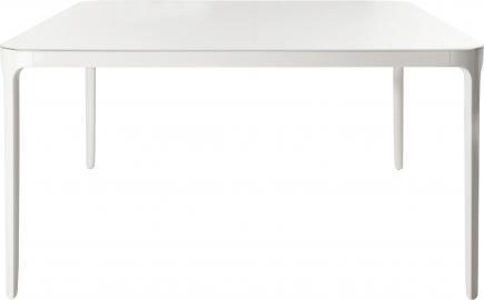 Stół Vanity kwadratowy 140 cm biała rama biały blat