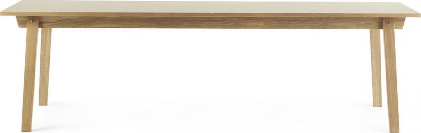Stół prostokątny Slice 90x250 cm kremowy