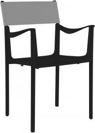 Krzesło Venice czarne z szarym oparciem