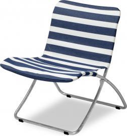 Krzesło plażowe Lise granatowe pasy